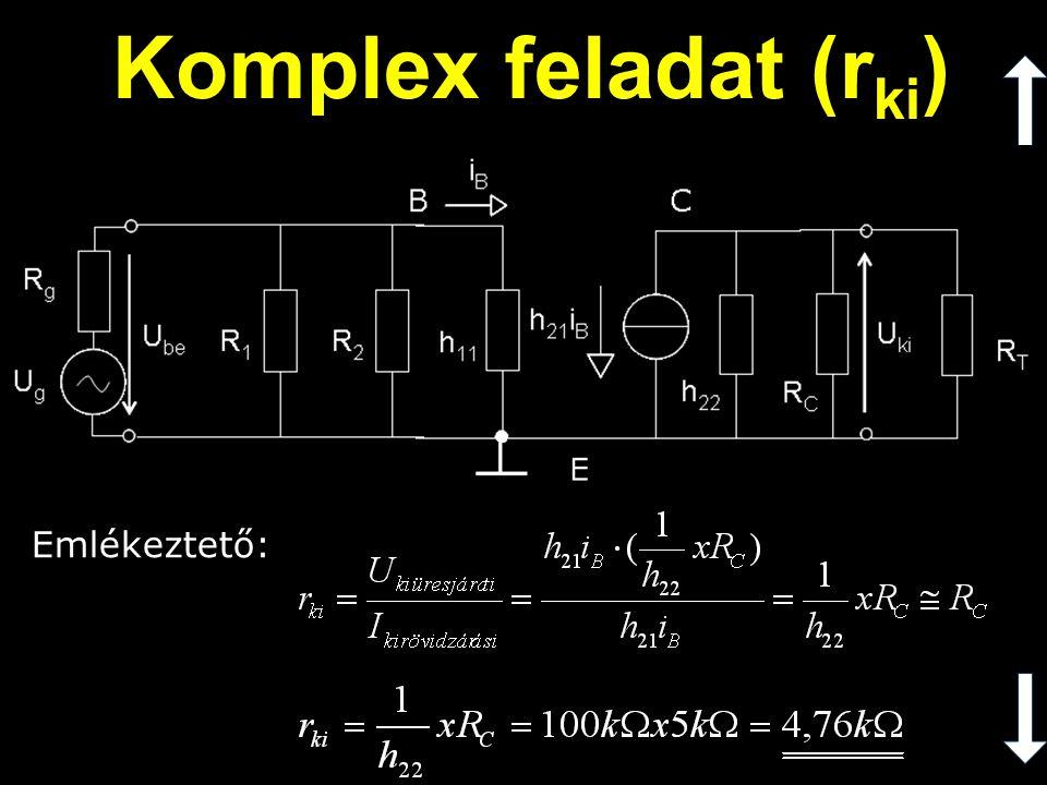 Komplex feladat (rki) Emlékeztető: