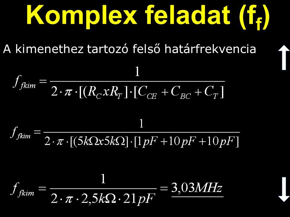Komplex feladat (ff) A kimenethez tartozó felső határfrekvencia