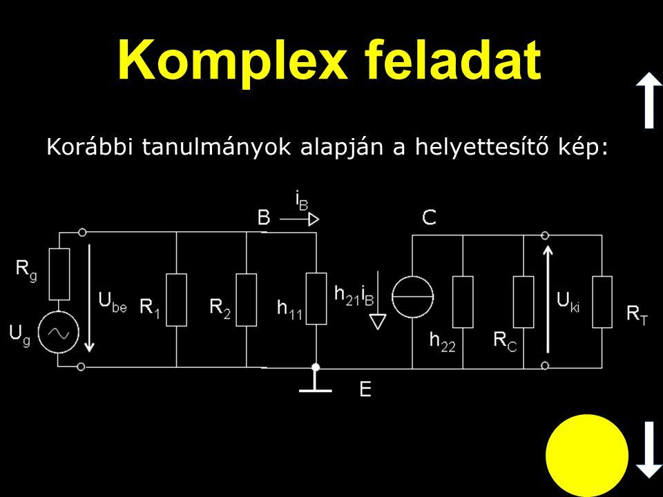 Komplex feladat Korábbi tanulmányok alapján a helyettesítő kép:
