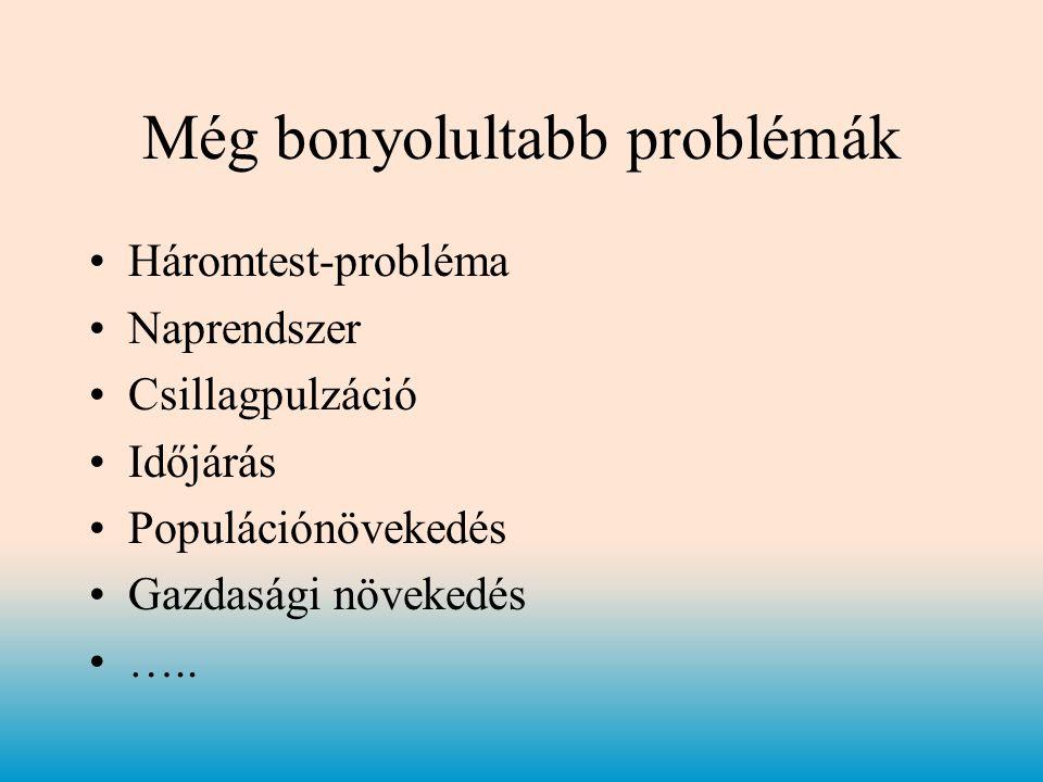 Még bonyolultabb problémák