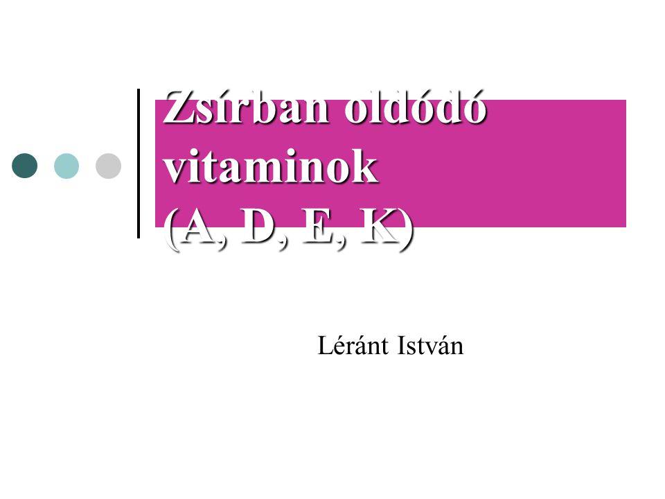 Zsírban oldódó vitaminok (A, D, E, K)