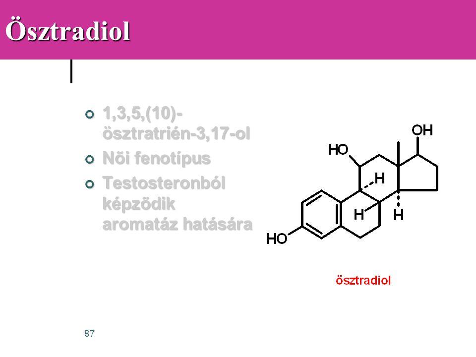 Ösztradiol 1,3,5,(10)-ösztratrién-3,17-ol Nõi fenotípus