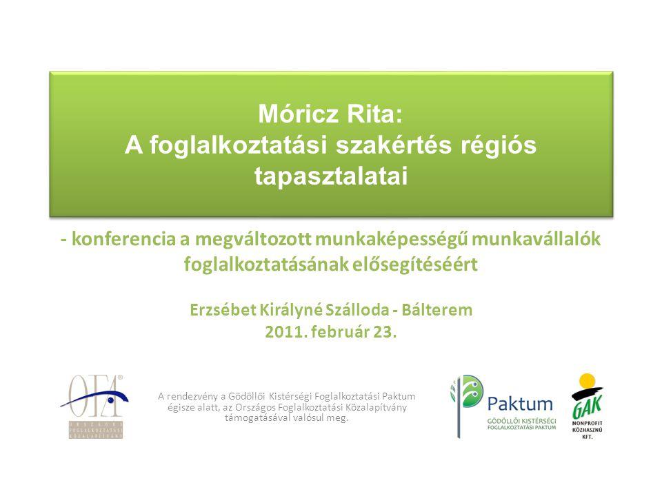 Móricz Rita: A foglalkoztatási szakértés régiós tapasztalatai