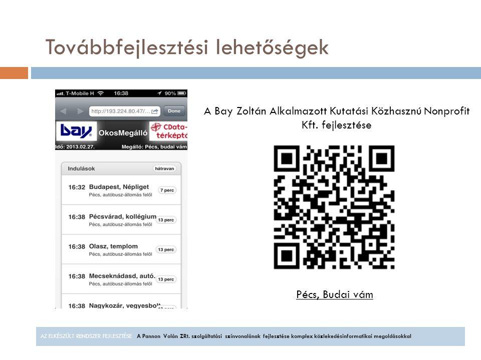 A Bay Zoltán Alkalmazott Kutatási Közhasznú Nonprofit Kft. fejlesztése