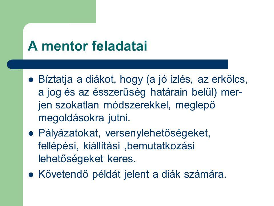 A mentor feladatai