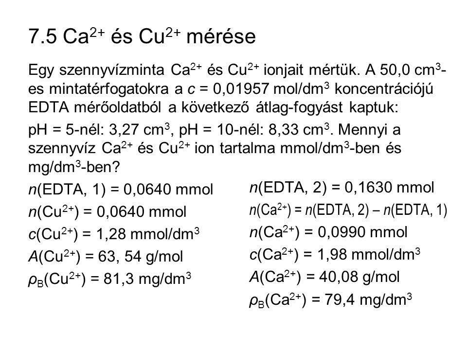 7.5 Ca2+ és Cu2+ mérése