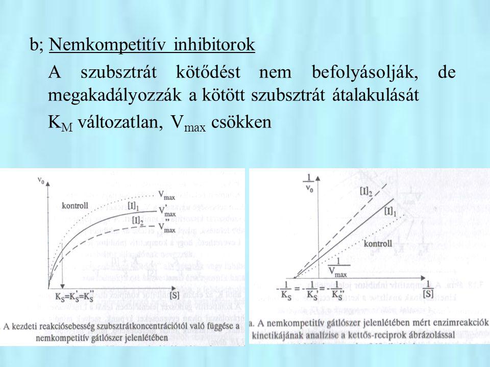 b; Nemkompetitív inhibitorok