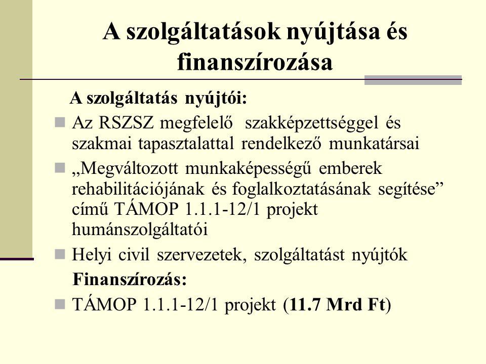 A szolgáltatások nyújtása és finanszírozása