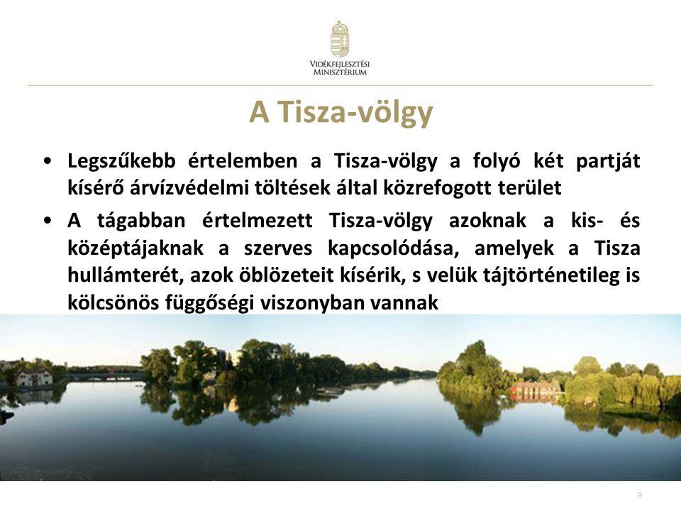 A Tisza-völgy Legszűkebb értelemben a Tisza-völgy a folyó két partját kísérő árvízvédelmi töltések által közrefogott terület.