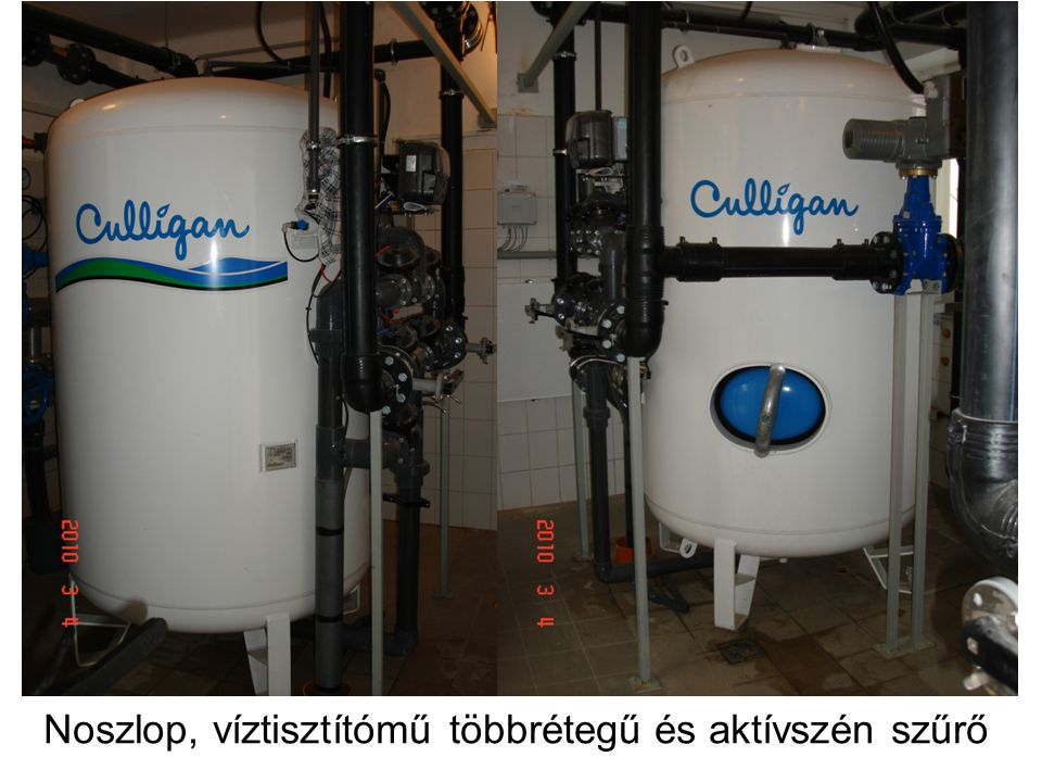 Noszlop, víztisztítómű többrétegű és aktívszén szűrő