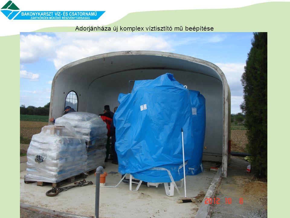 Adorjánháza új komplex víztisztító mű beépítése