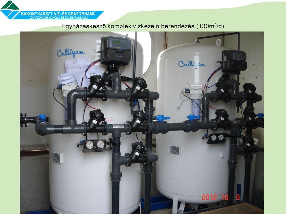 Egyházaskesző komplex vízkezelő berendezés (130m3/d)