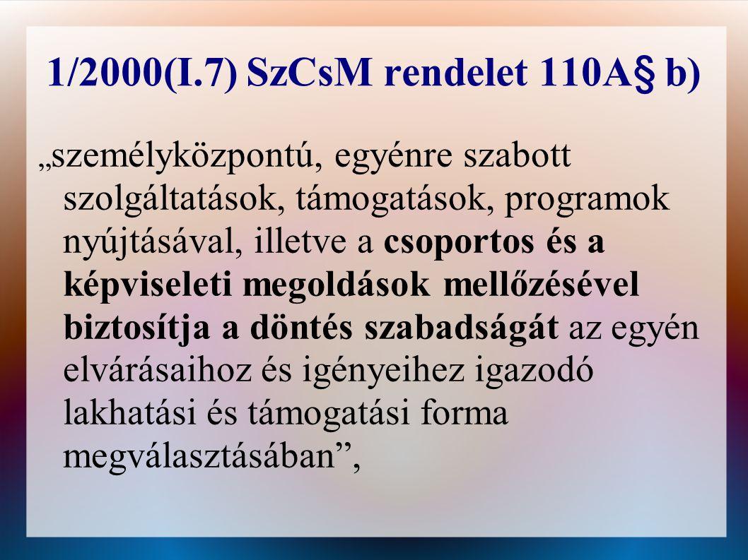 1/2000(I.7) SzCsM rendelet 110A§ b)