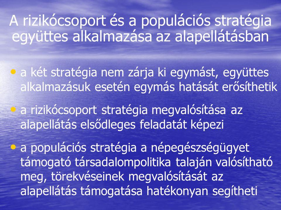 A rizikócsoport és a populációs stratégia együttes alkalmazása az alapellátásban