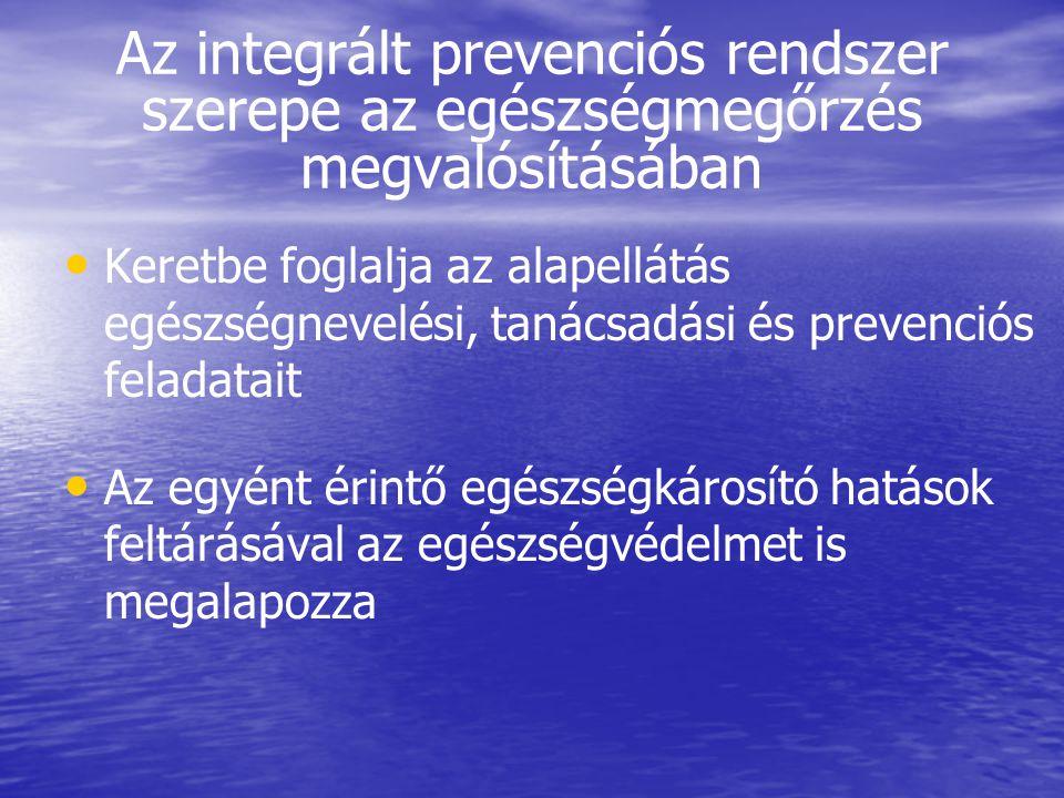 Az integrált prevenciós rendszer szerepe az egészségmegőrzés megvalósításában