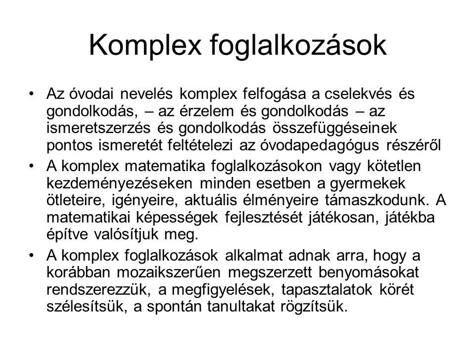 Komplex foglalkozások