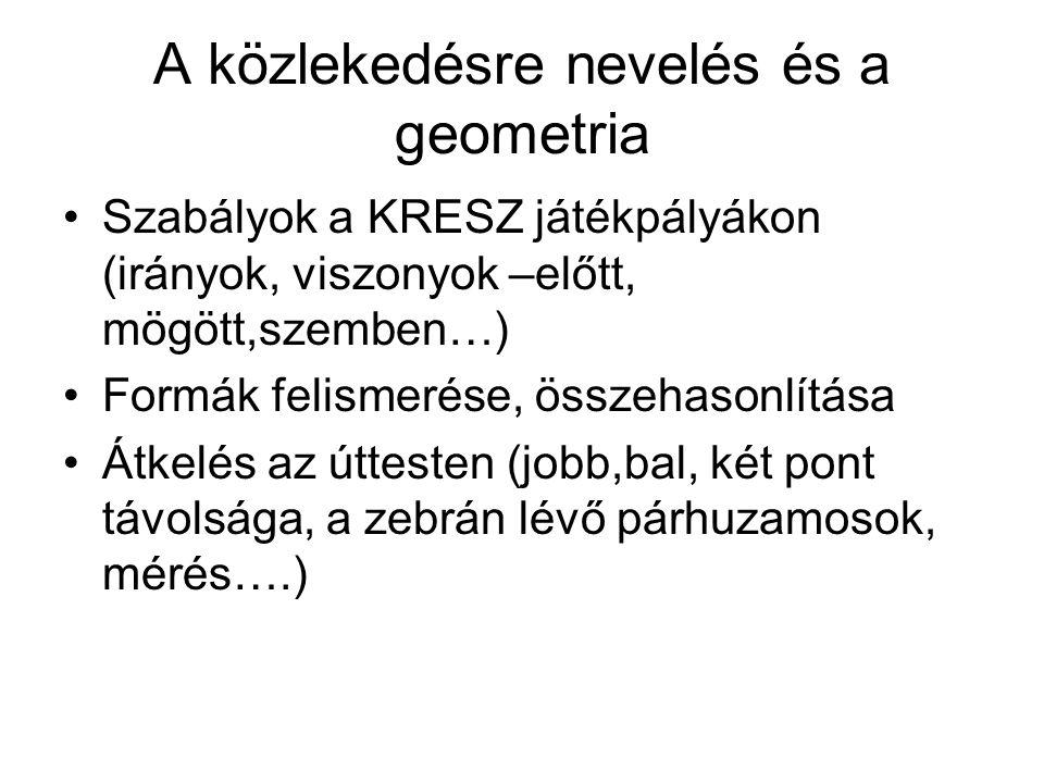A közlekedésre nevelés és a geometria