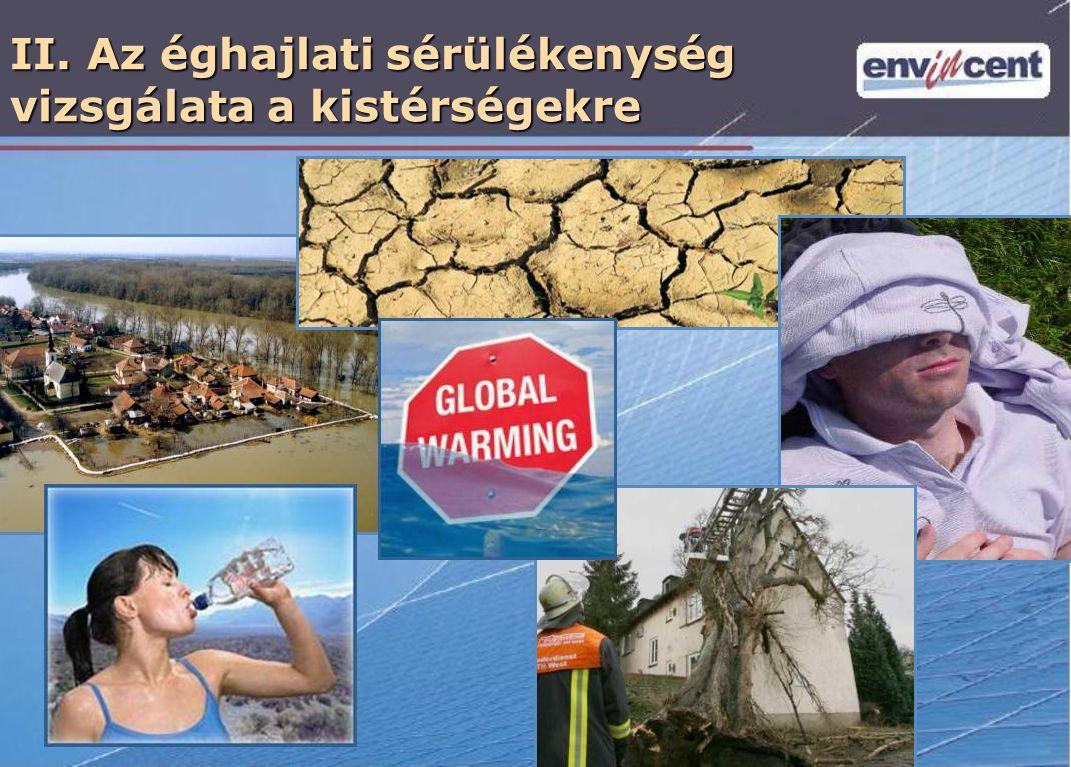II. Az éghajlati sérülékenység vizsgálata a kistérségekre