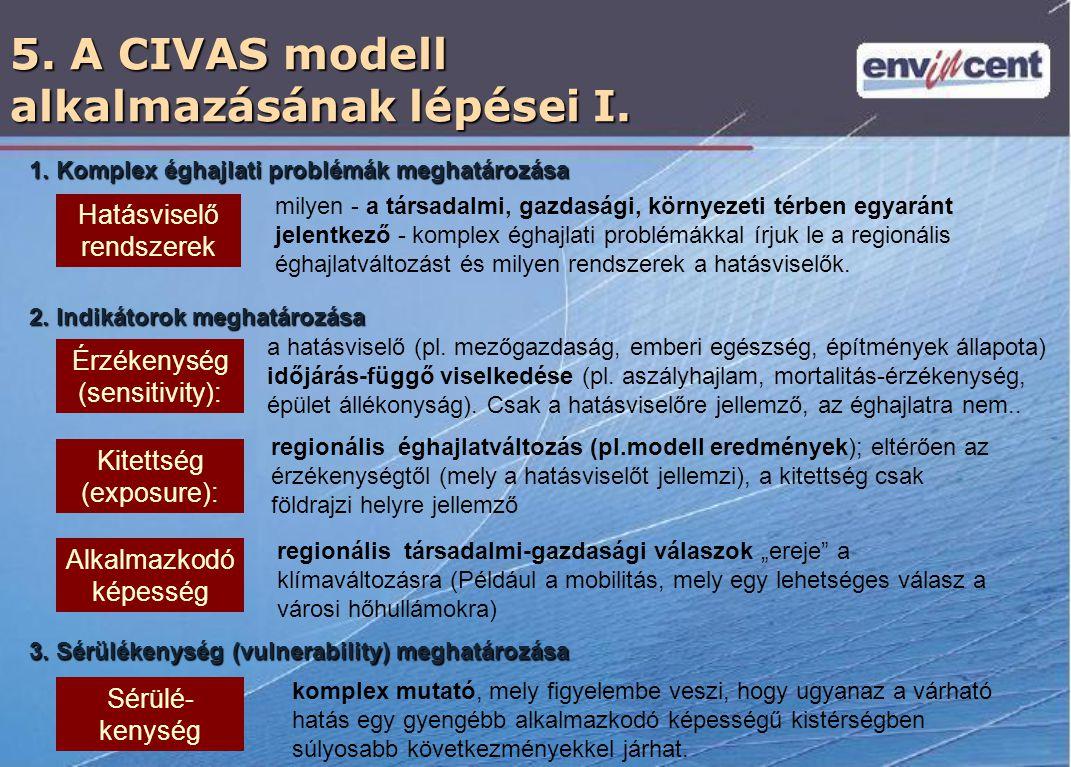 5. A CIVAS modell alkalmazásának lépései I.