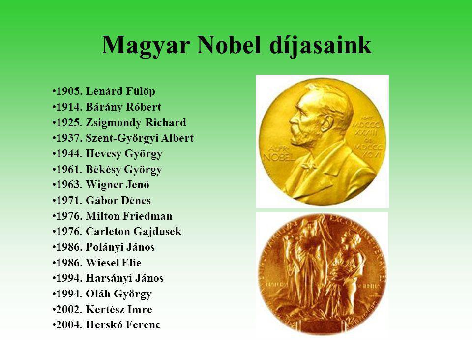 1905. Lénárd Fülöp Fizikai Nobel-díj