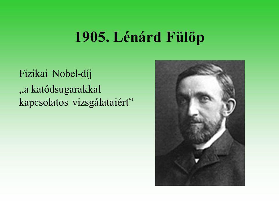 1914. Bárány Róbert Orvosi Nobel-díj