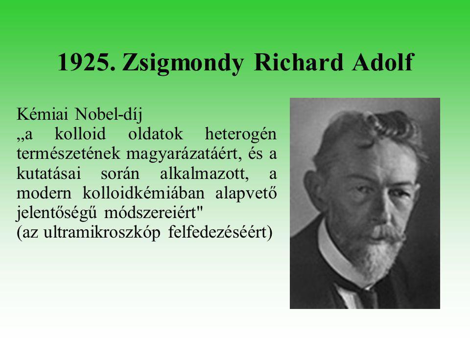 1937. Szent-Györgyi Albert Orvosi Nobel-díj