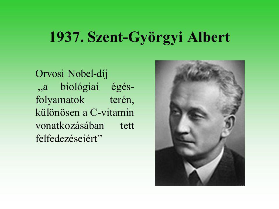 1944. Hevesy György Kémiai Nobel-díj