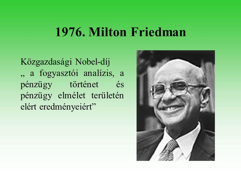 1976. Carleton Gajdusek Orvosi Nobel-díj