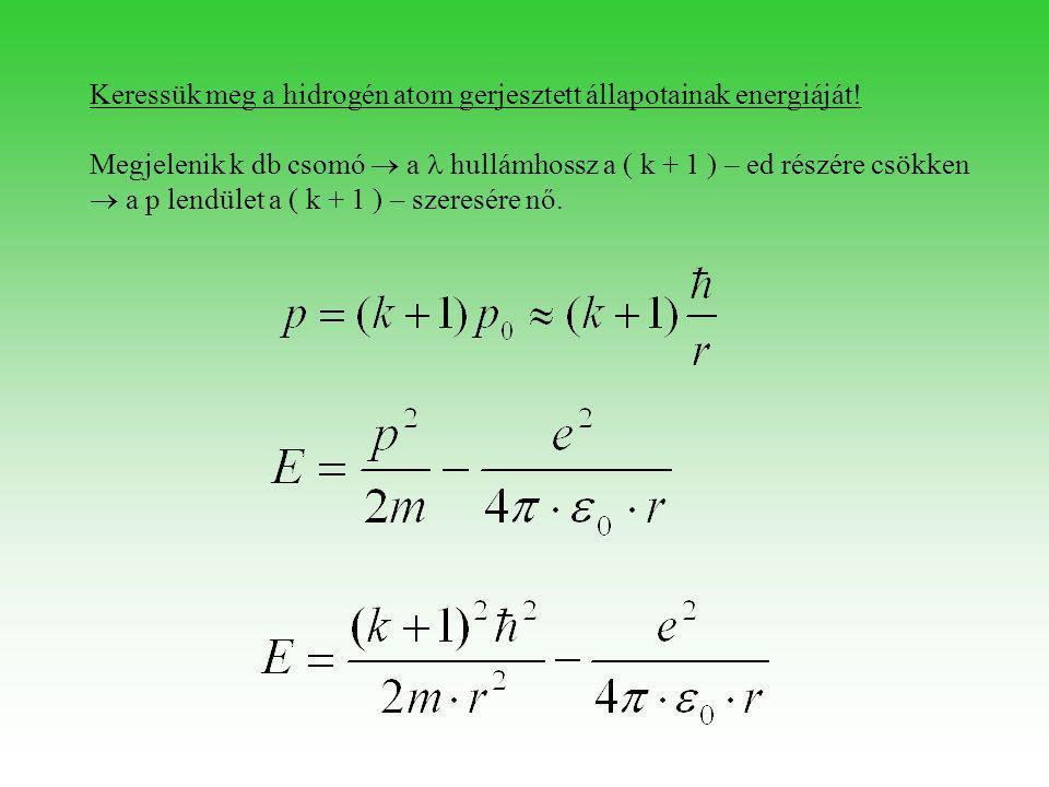 Az E akkor lesz minimális => ha is minimális.