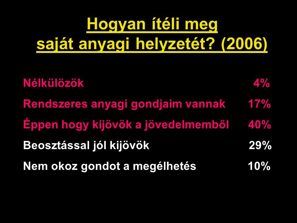 Hogyan ítéli meg saját anyagi helyzetét (2006)