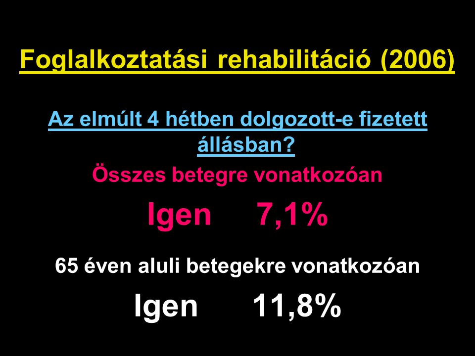 Foglalkoztatási rehabilitáció (2006)