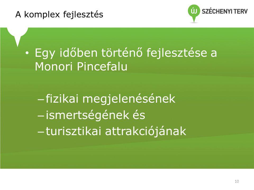 Egy időben történő fejlesztése a Monori Pincefalu