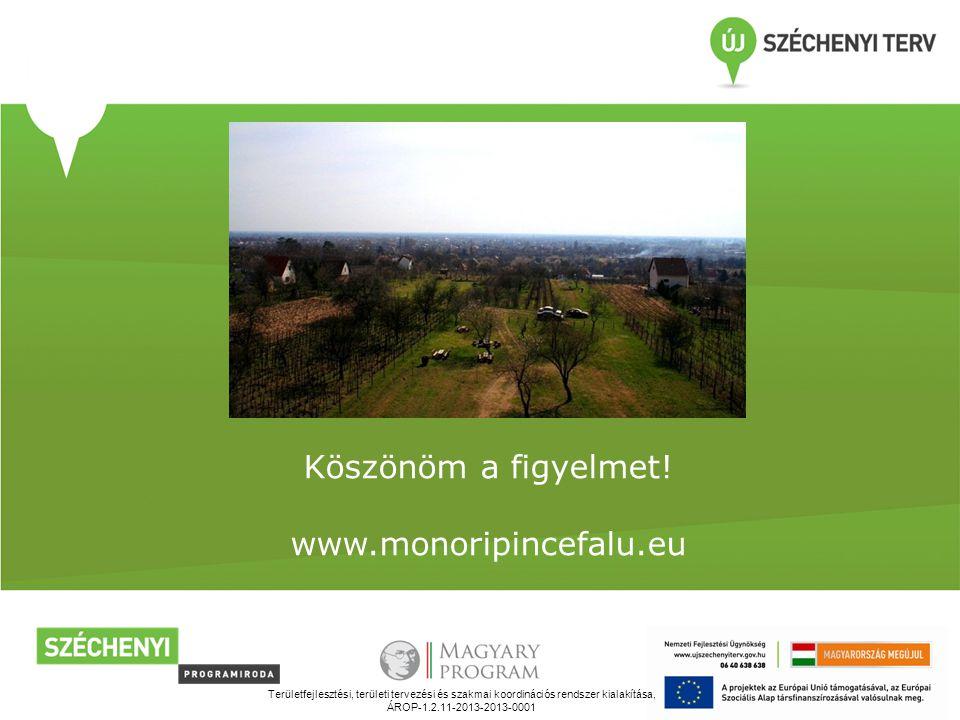 Köszönöm a figyelmet! www.monoripincefalu.eu