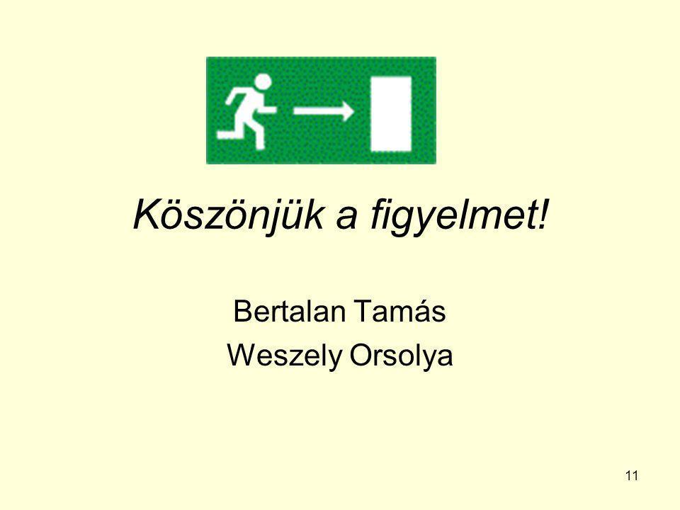Bertalan Tamás Weszely Orsolya