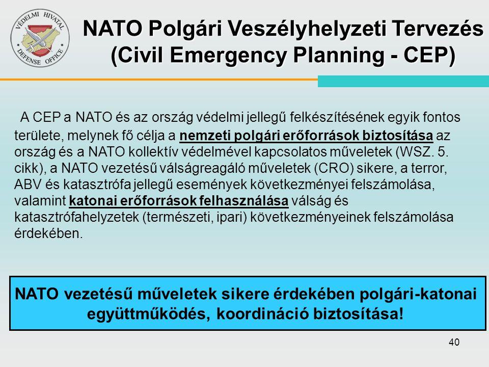 NATO Polgári Veszélyhelyzeti Tervezés (Civil Emergency Planning - CEP)