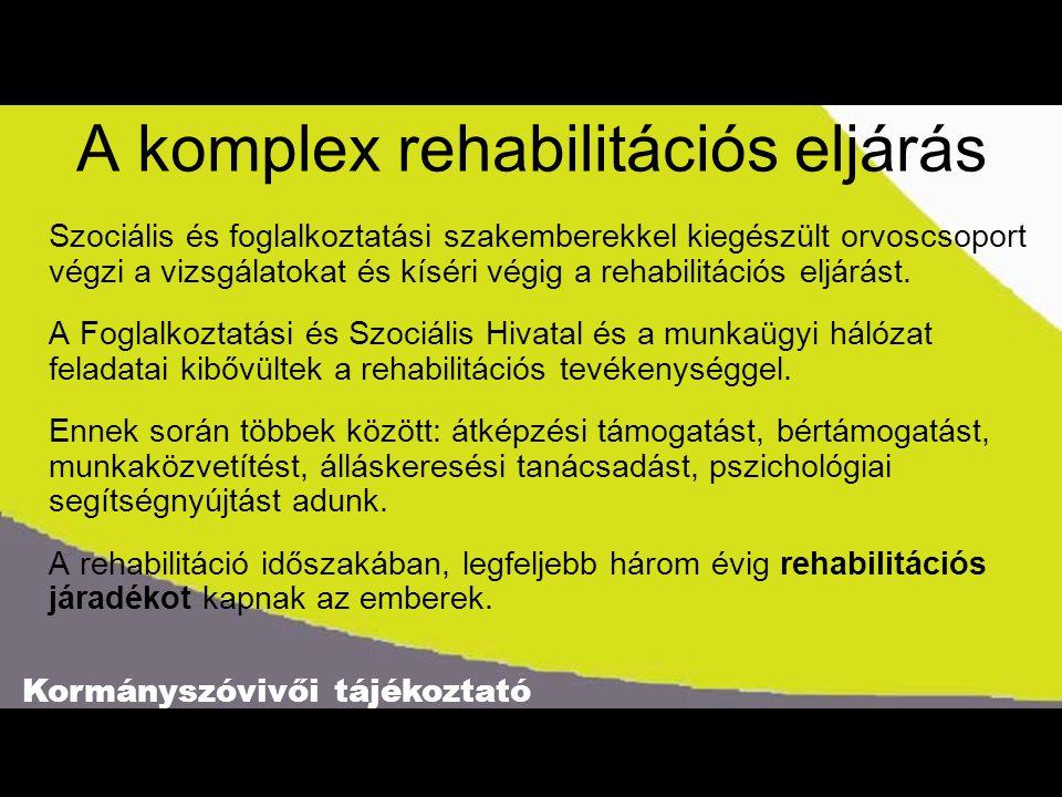A komplex rehabilitációs eljárás