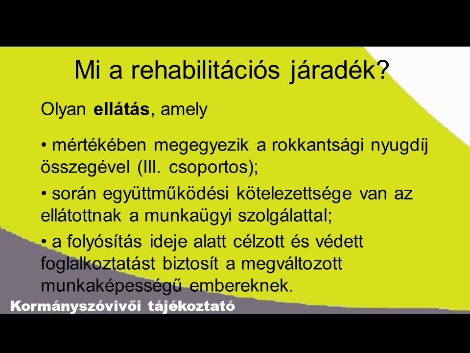 Mi a rehabilitációs járadék