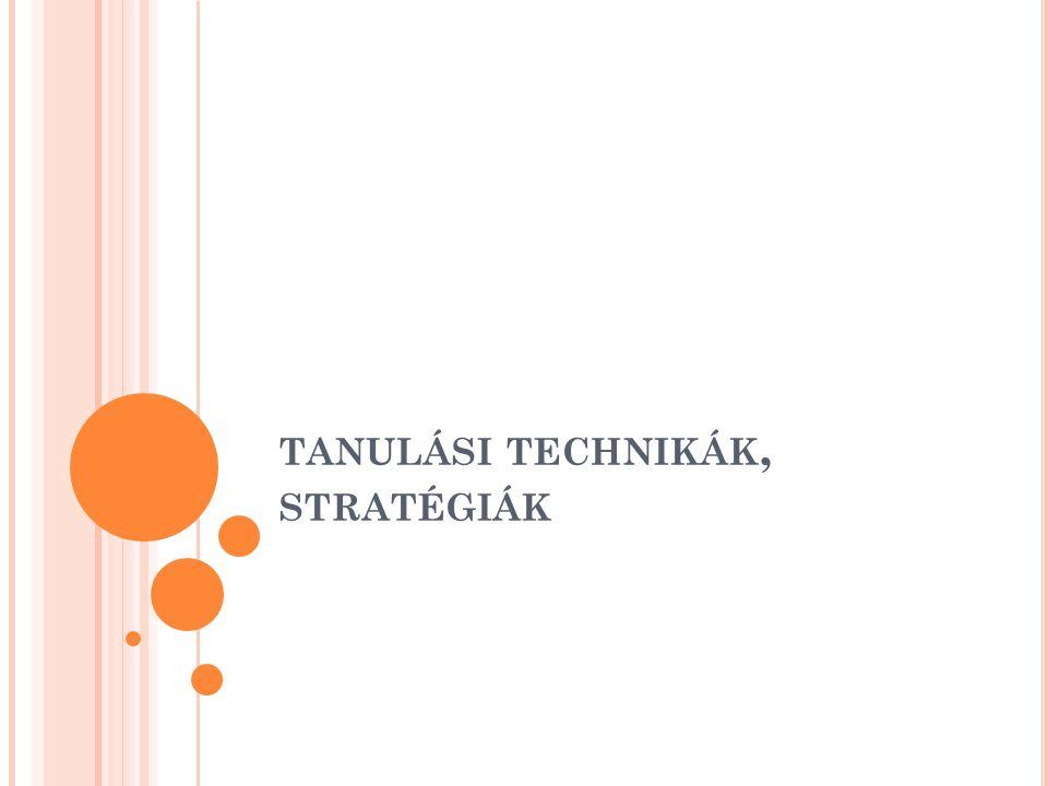 tanulási technikák, stratégiák
