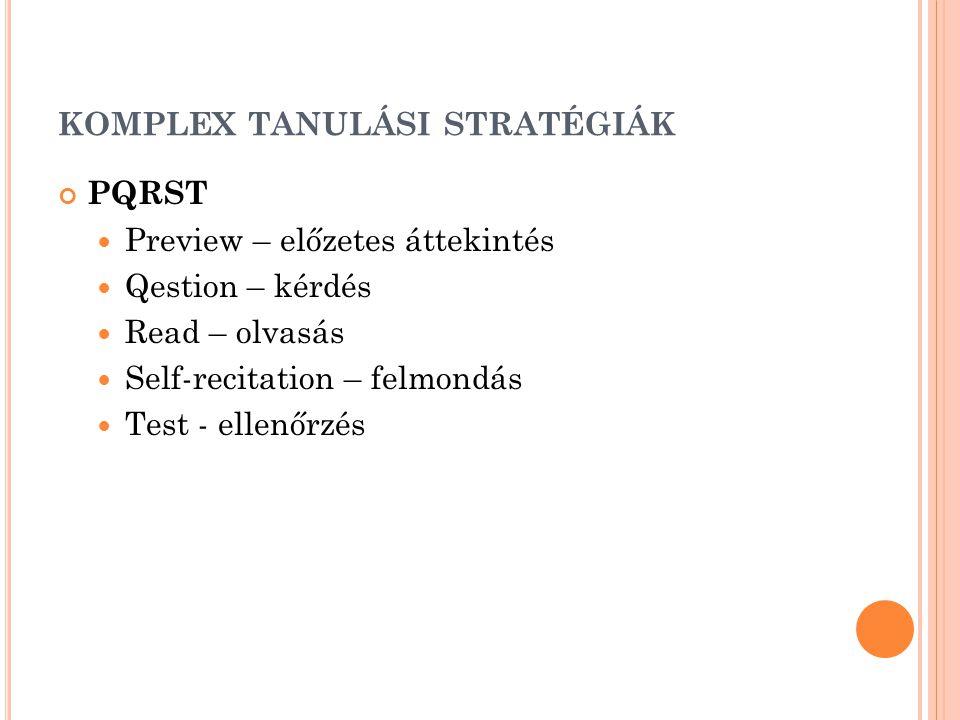 komplex tanulási stratégiák
