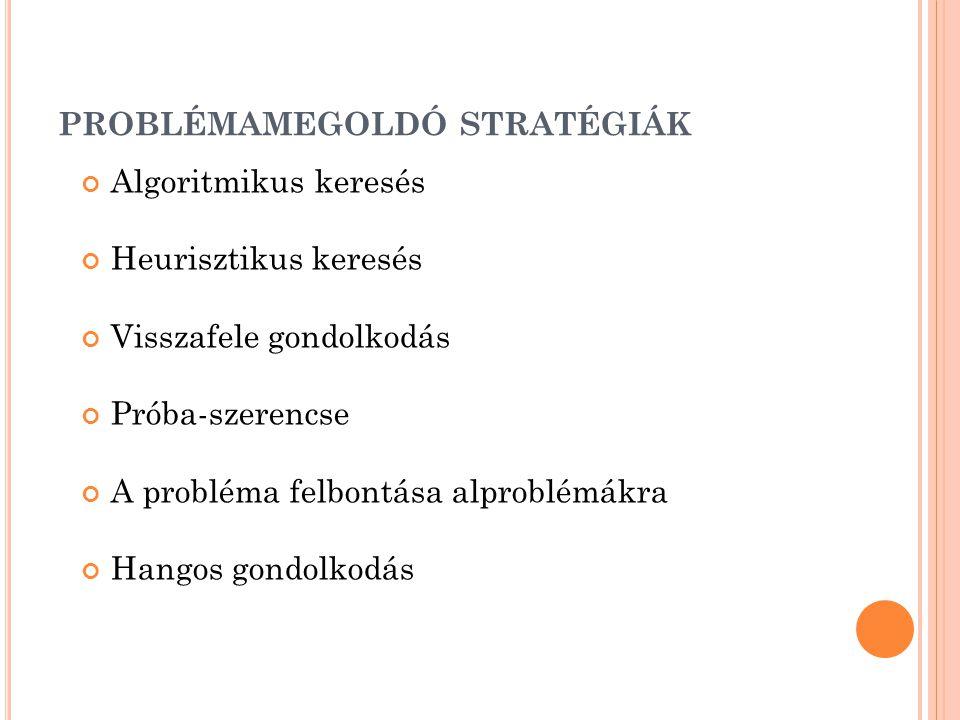problémamegoldó stratégiák