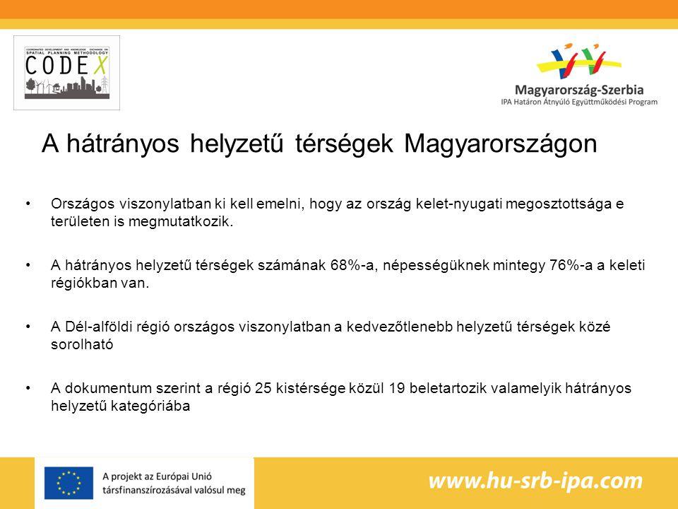 A hátrányos helyzetű térségek Magyarországon