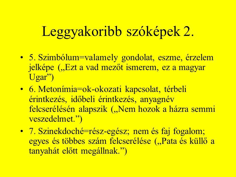 Leggyakoribb szóképek 2.
