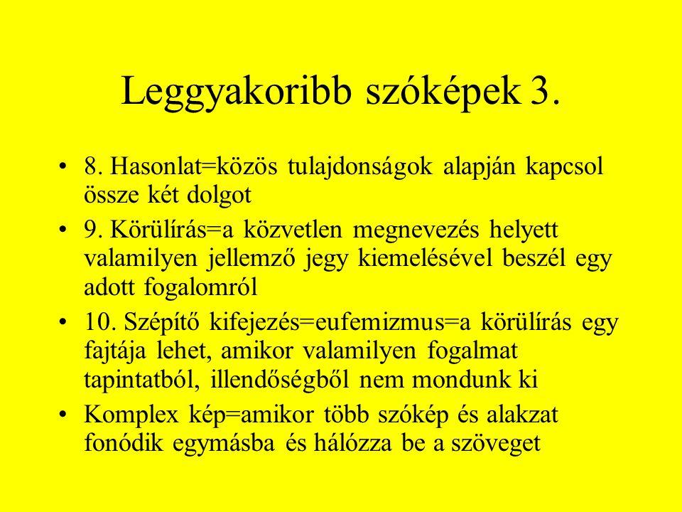 Leggyakoribb szóképek 3.