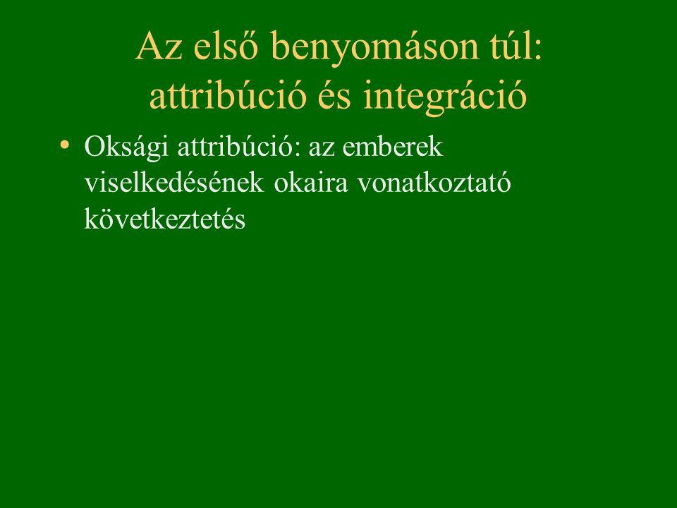 Az első benyomáson túl: attribúció és integráció