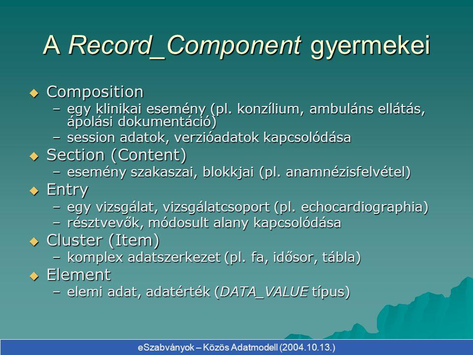 A Record_Component gyermekei