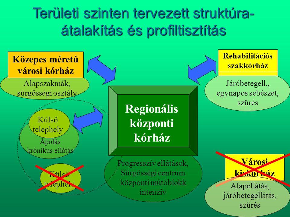 Területi szinten tervezett struktúra-átalakítás és profiltisztítás