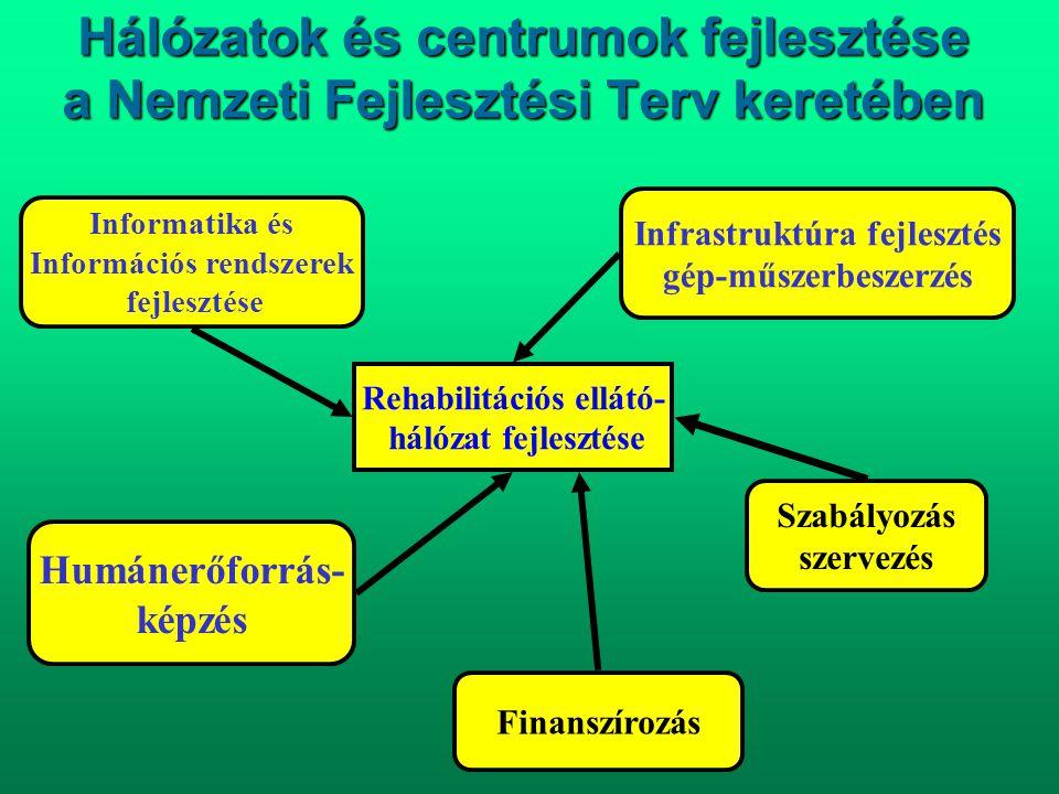 Hálózatok és centrumok fejlesztése a Nemzeti Fejlesztési Terv keretében