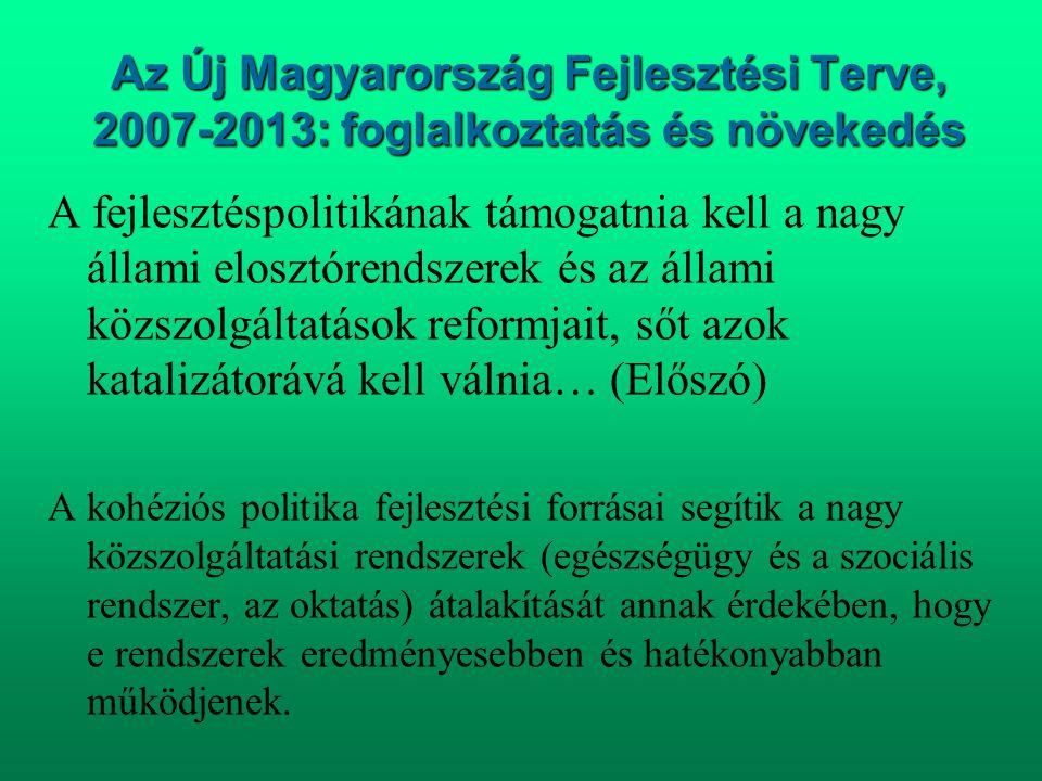 Az Új Magyarország Fejlesztési Terve, 2007-2013: foglalkoztatás és növekedés