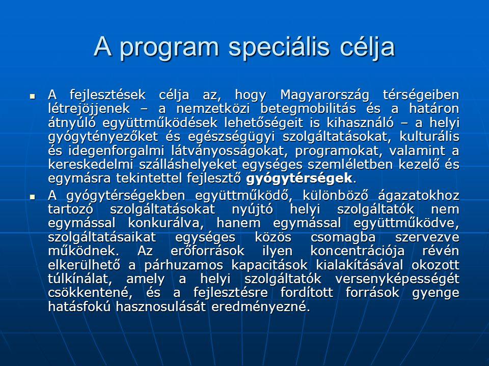 A program speciális célja