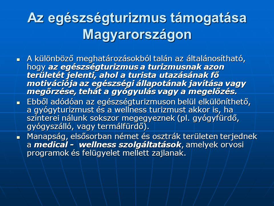 Az egészségturizmus támogatása Magyarországon